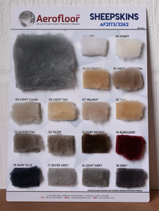 Sheepskins Sample Board - Front