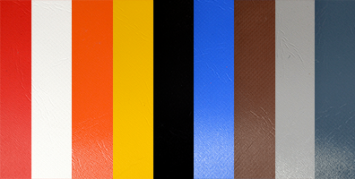All colours of the PVC
